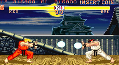 Street Fighter vintage cabinato
